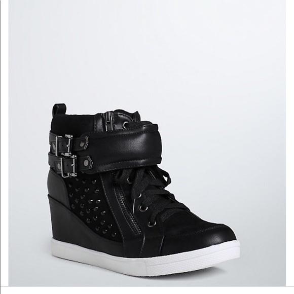 8198bd21b7b Torrid studded wedge sneakers. M 5b38dbda5c4452e44cede1b3
